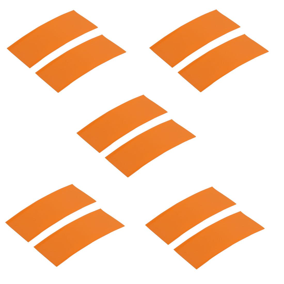 10pcs 23mm Width 53mm Long PVC Heat Shrinkable Tube Orange for AA Battery Pack