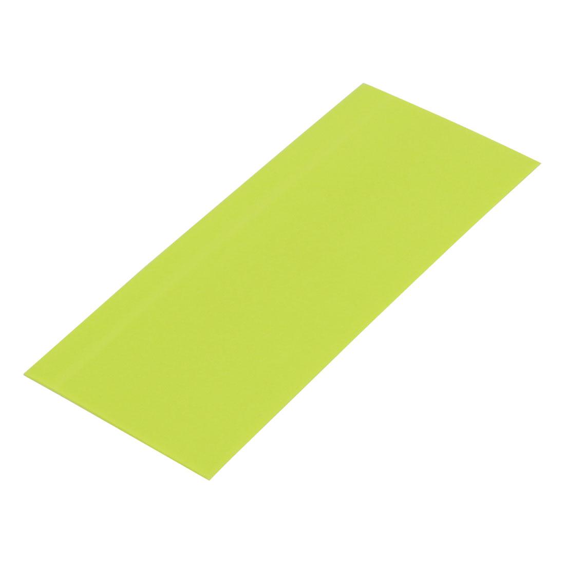 23mm Flat Width 53mm Length PVC Heat Shrinkable Tube Olive Green for AA Battery