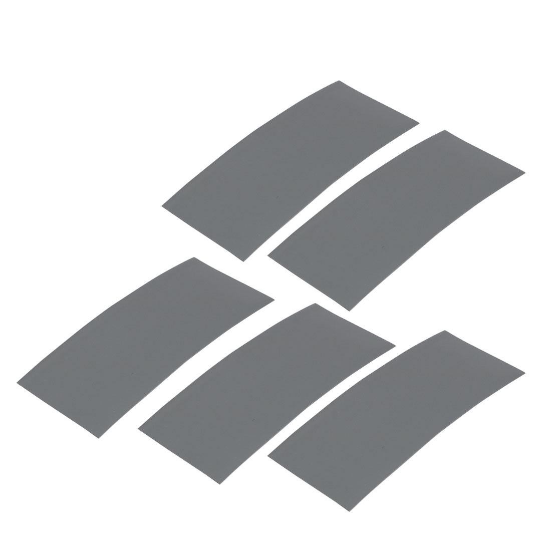 5pcs 23mm Flat Width 53mm Length PVC Heat Shrinkable Tube Gray for AA Battery