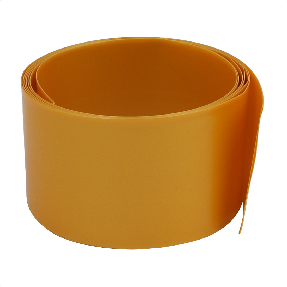 29.5mm Flat Width 1M Length PVC Heat Shrinkable Tube Gold Tone for 18650 Battery