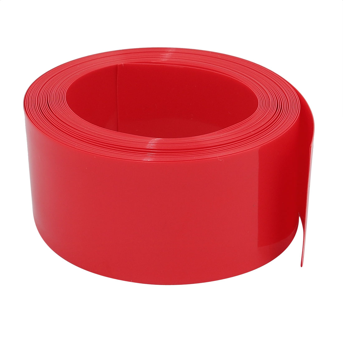 31mm Flat Width 5M Long PVC Heat Shrinkable Tube Red for Capacitive Battery Pack