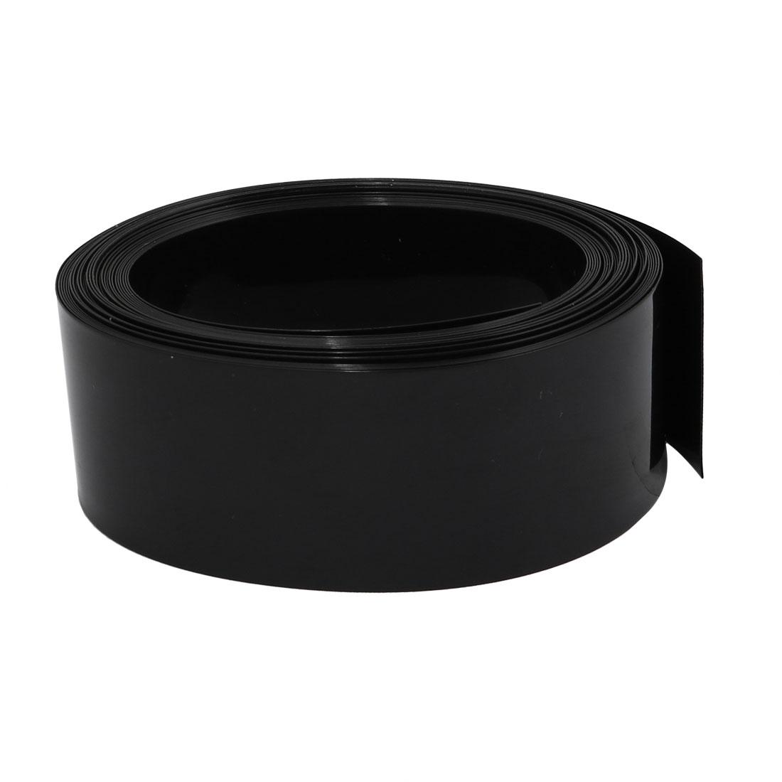 31mm Flat Width 6M Length PVC Heat Shrinkable Tube Black for Capacitive Battery