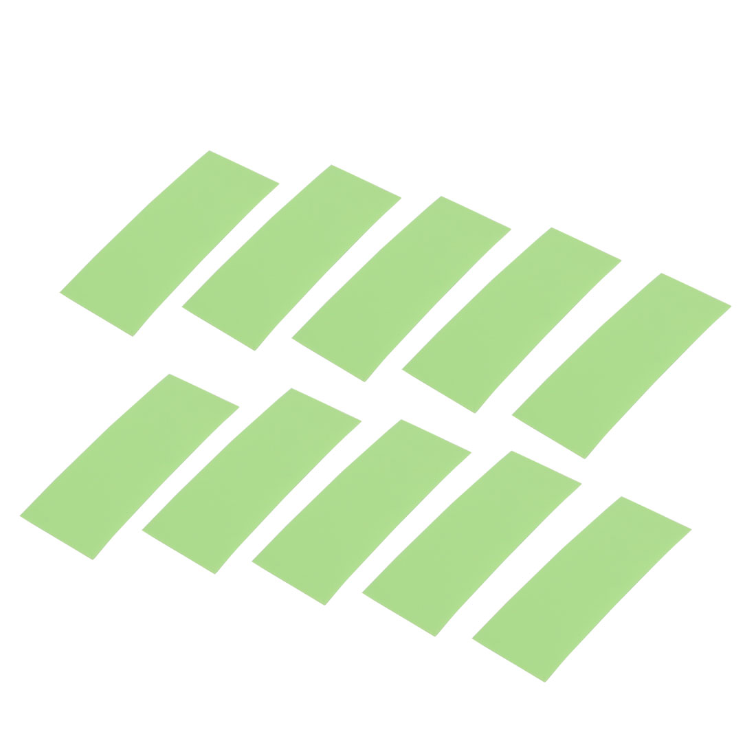 10pcs 17mm Flat Width 46mm Long Heat Shrinkable Tube Light Green for AAA Battery