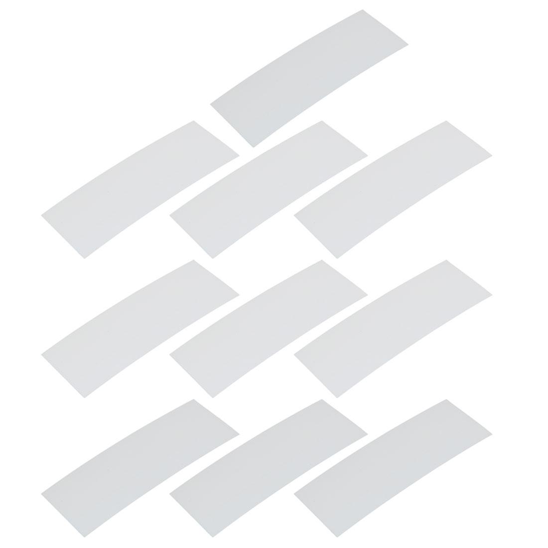 10pcs 17mm Flat Width 46mm Long PVC Heat Shrinkable Tube White for Battery Pack