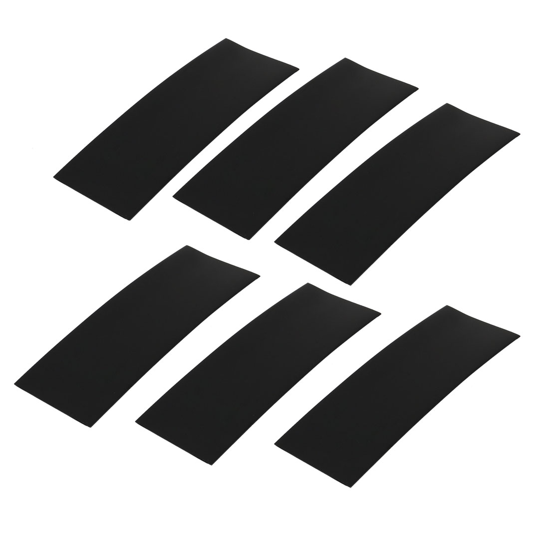 6pcs 17mm Flat Width 46mm Length PVC Heat Shrinkable Tube Black for AAA Battery