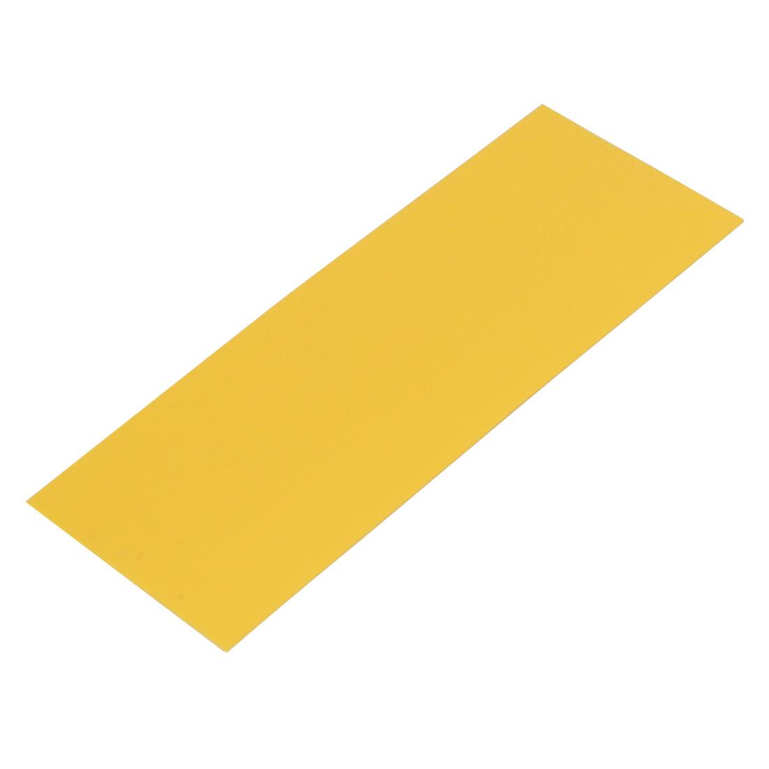 17mm Flat Width 46mm Long PVC Heat Shrinkable Tube Yellow for AAA Battery