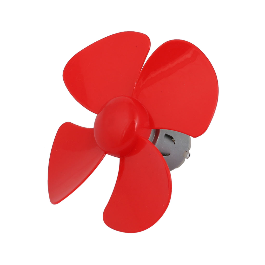 DC 12V 0.03A 1500-7000RPM Motor 4 Vanes 100mm Rotating Dia Propeller Red for RC Aircraft