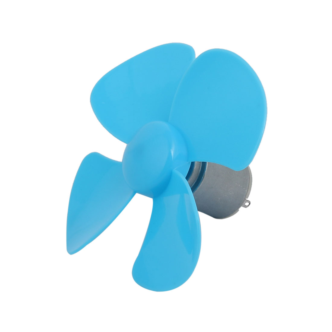 DC1.5V 0.09A 1500-3800RPM Motor 4 Vanes 100mm Rotating Diameter Propeller Blue