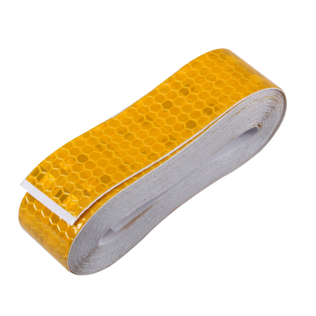Honeycomb Reflective Warning Tape Film Sticker Yellow 25mm Width 5m Length