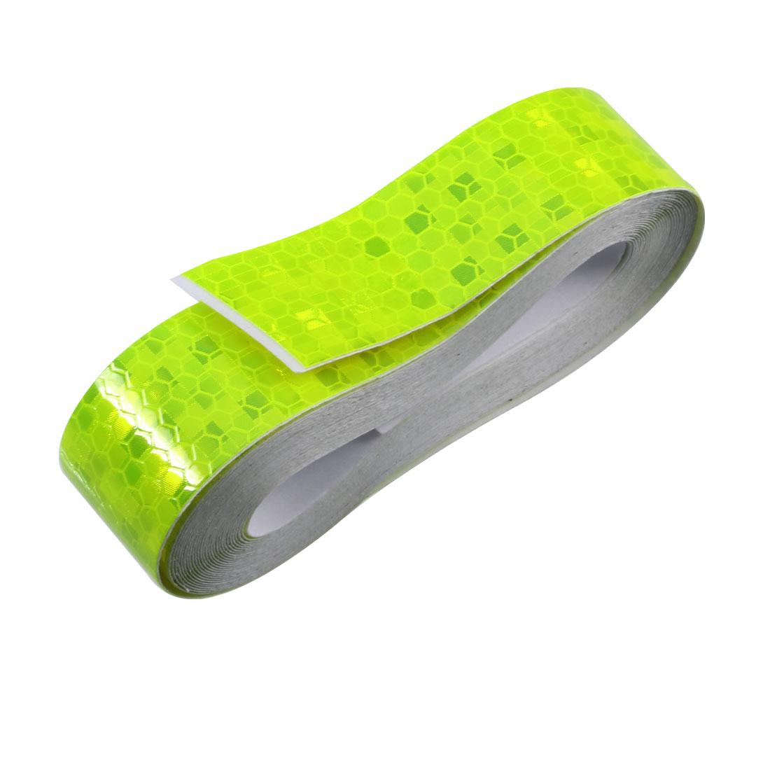 Honeycomb Reflective Warning Tape Film Sticker Yellow 25mm Width 5m Long