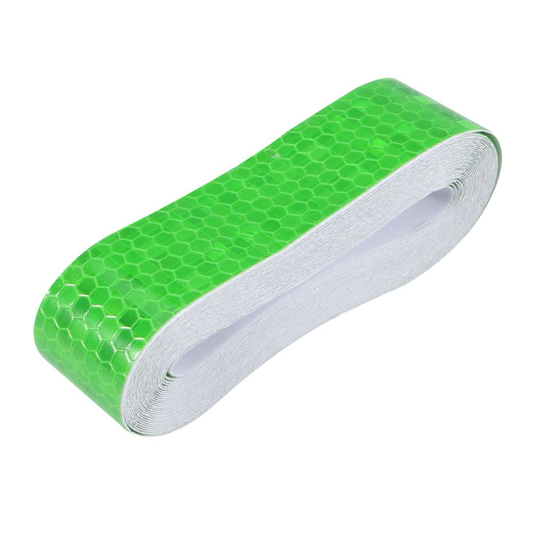 Honeycomb Reflective Warning Tape Film Sticker Green 25mm Width 5m Length