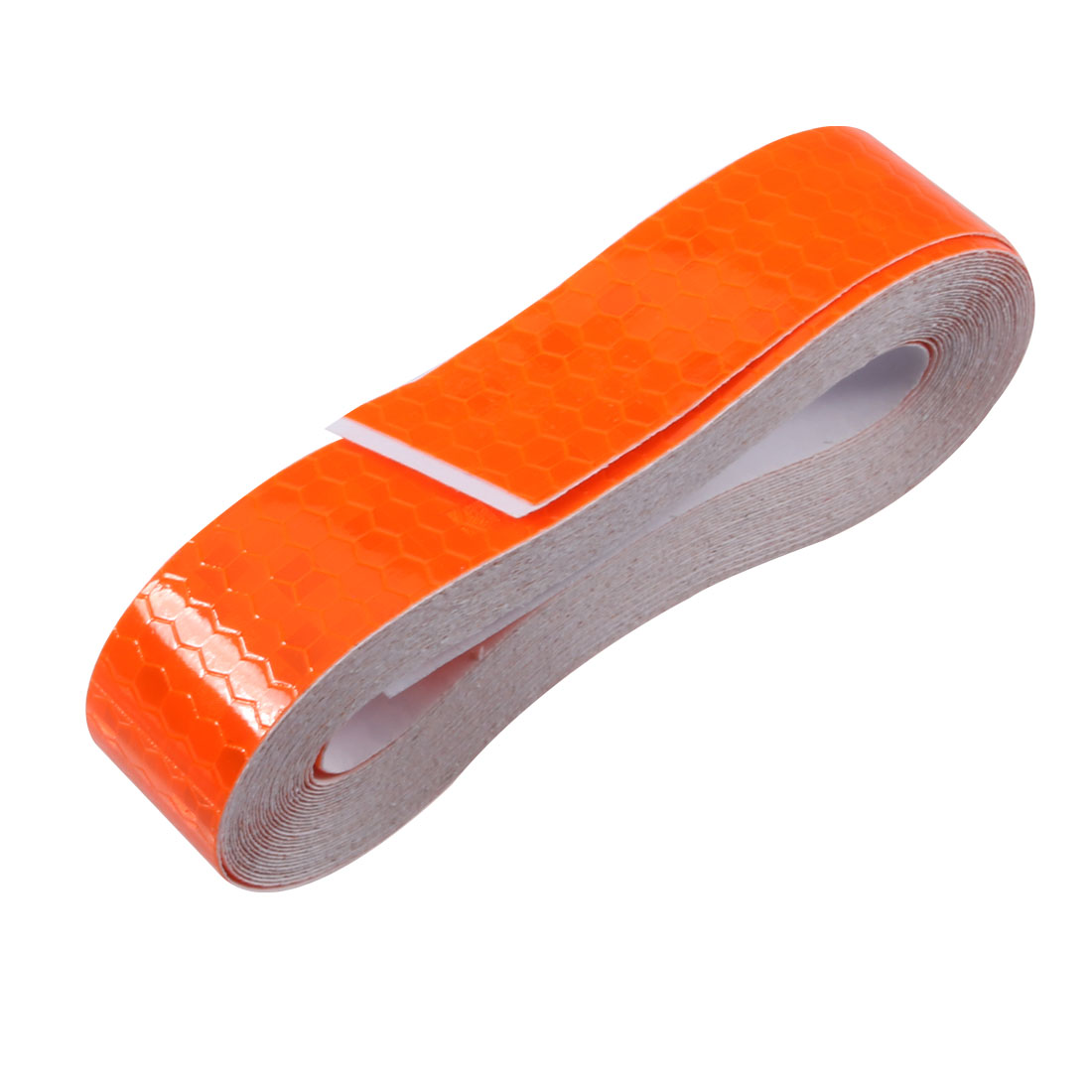 Honeycomb Reflective Warning Tape Film Sticker Orange 20mm Width 5m Length