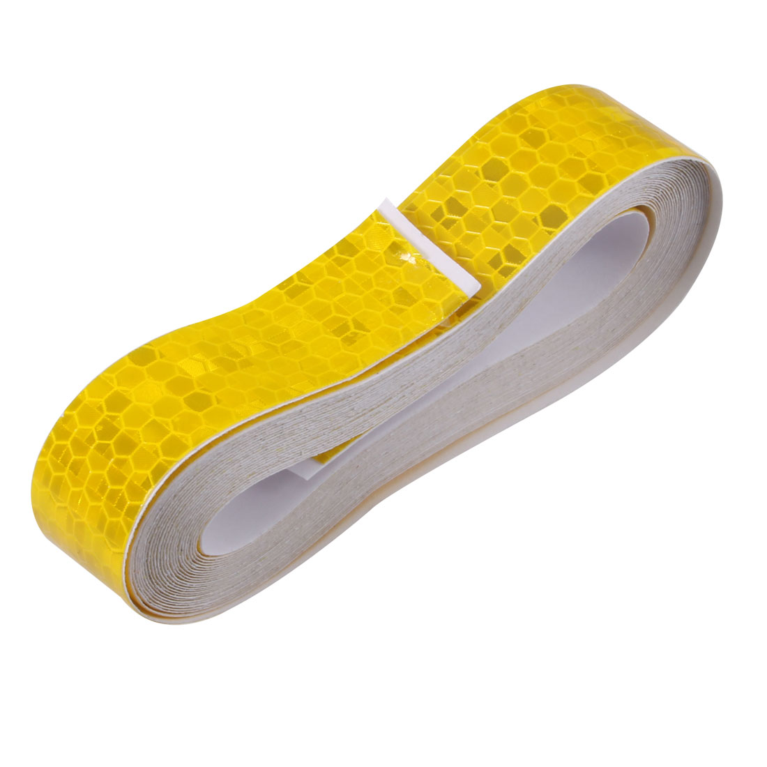 Honeycomb Reflective Warning Tape Film Sticker Yellow 20mm Width 5m Length