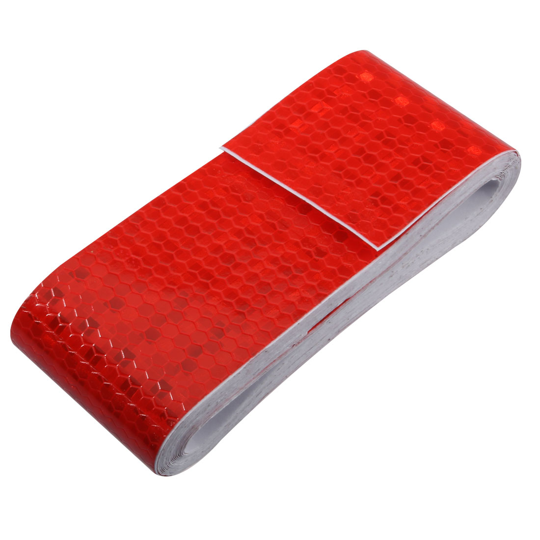 Honeycomb Reflective Warning Tape Film Sticker Red 50mm Width 5m Length