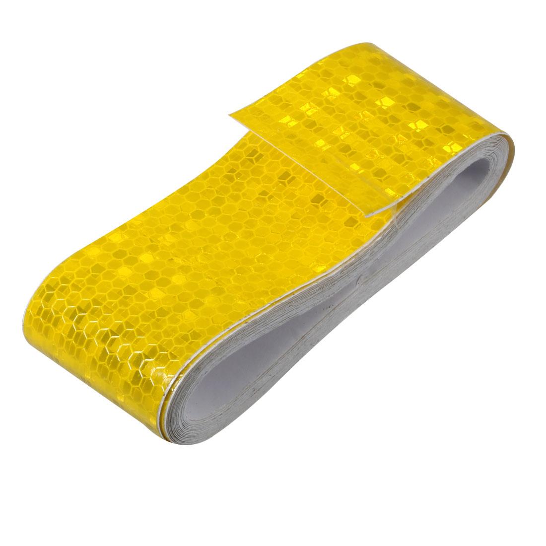 Honeycomb Reflective Warning Tape Film Sticker Yellow 50mm Width 5m Length