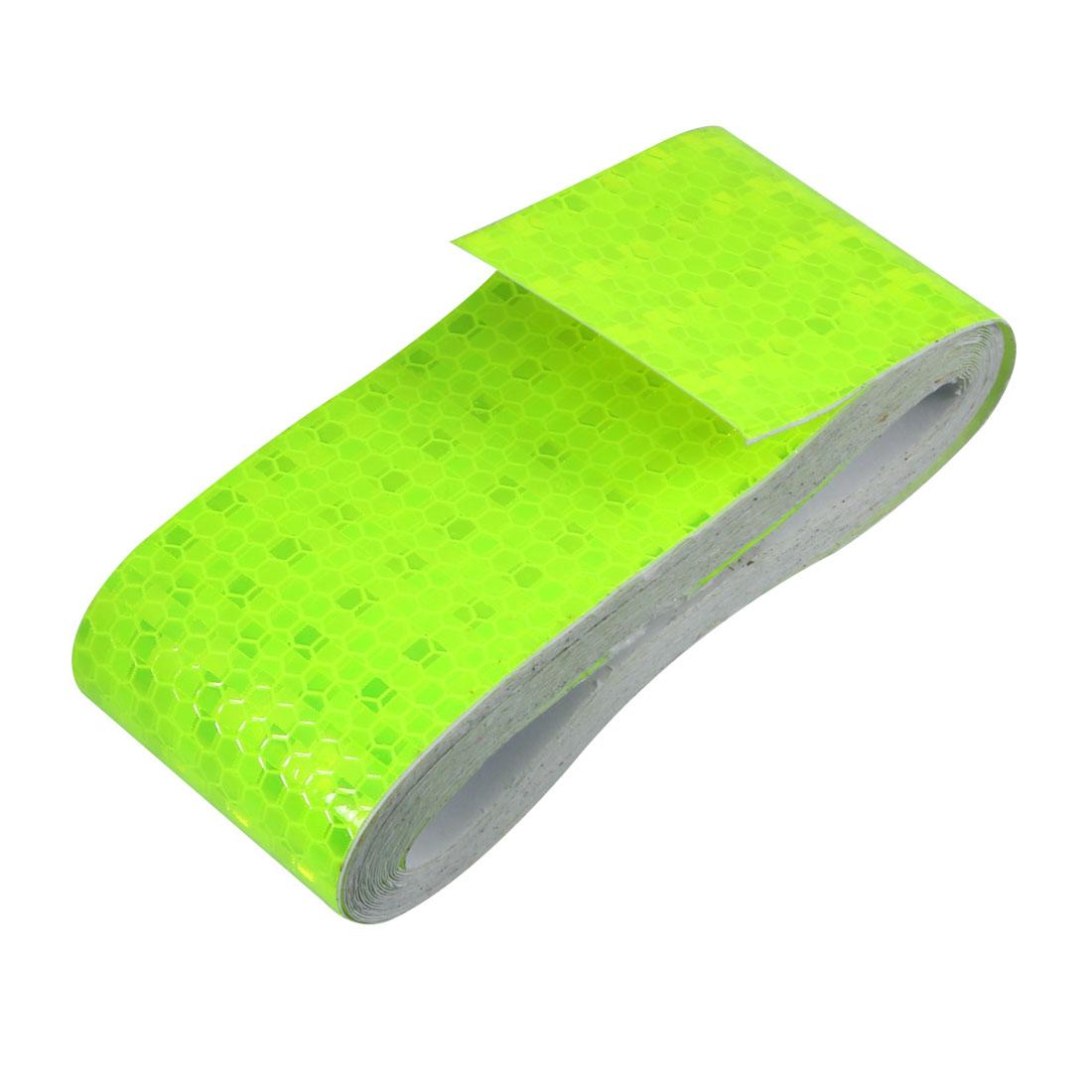 Honeycomb Reflective Warning Tape Film Sticker Yellow 50mm Width 5m Long
