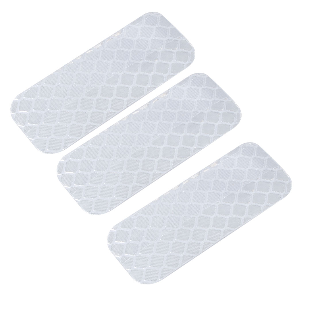 3pcs Honeycomb Reflective Warning Tape Film Sticker White 20mm Width 50mm Length