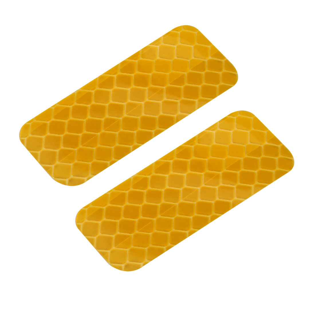 2pcs Reflective Warning Tape Film Sticker Yellow 20mm Width 50mm Length