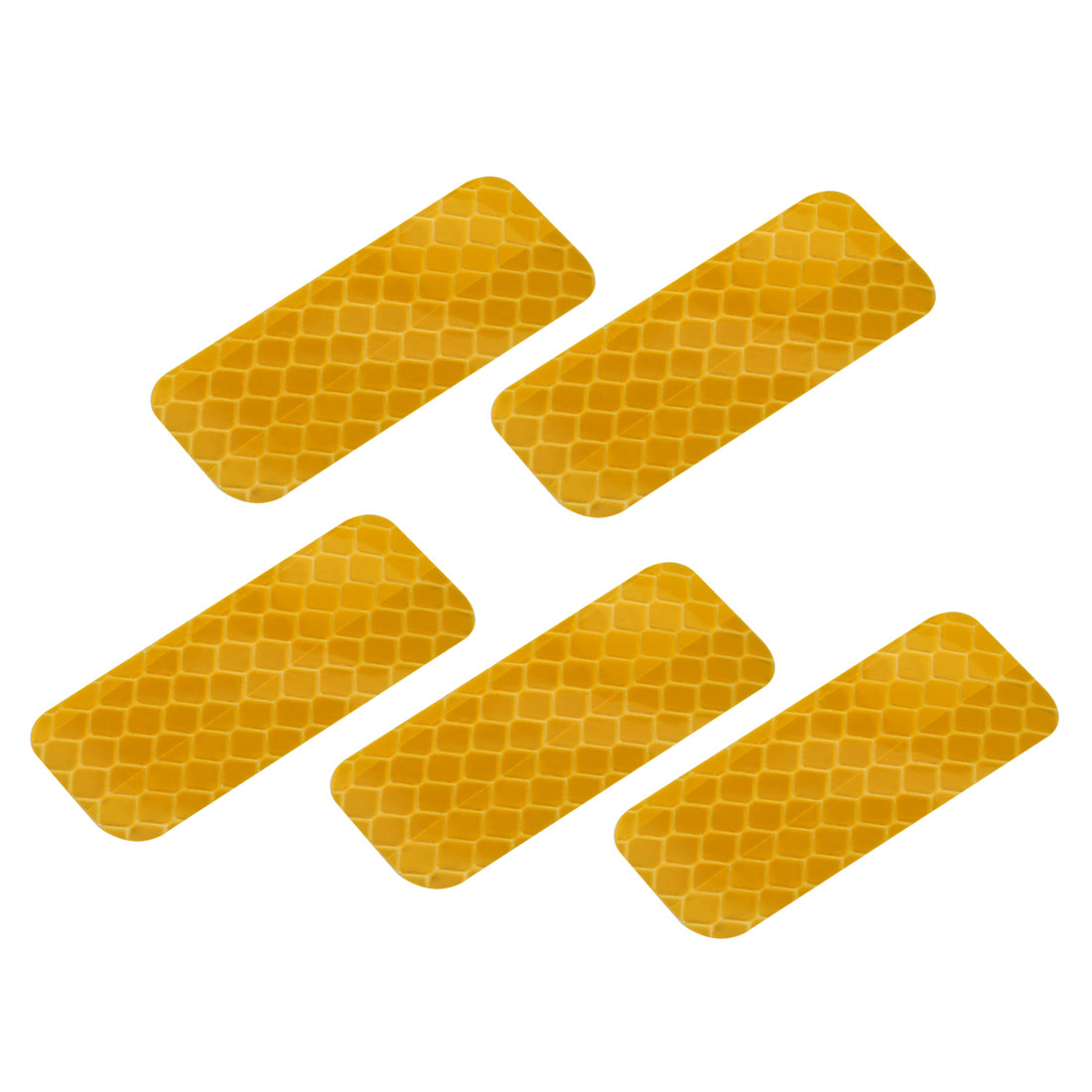 5pcs Reflective Warning Tape Film Sticker Yellow 20mm Width 50mm Length