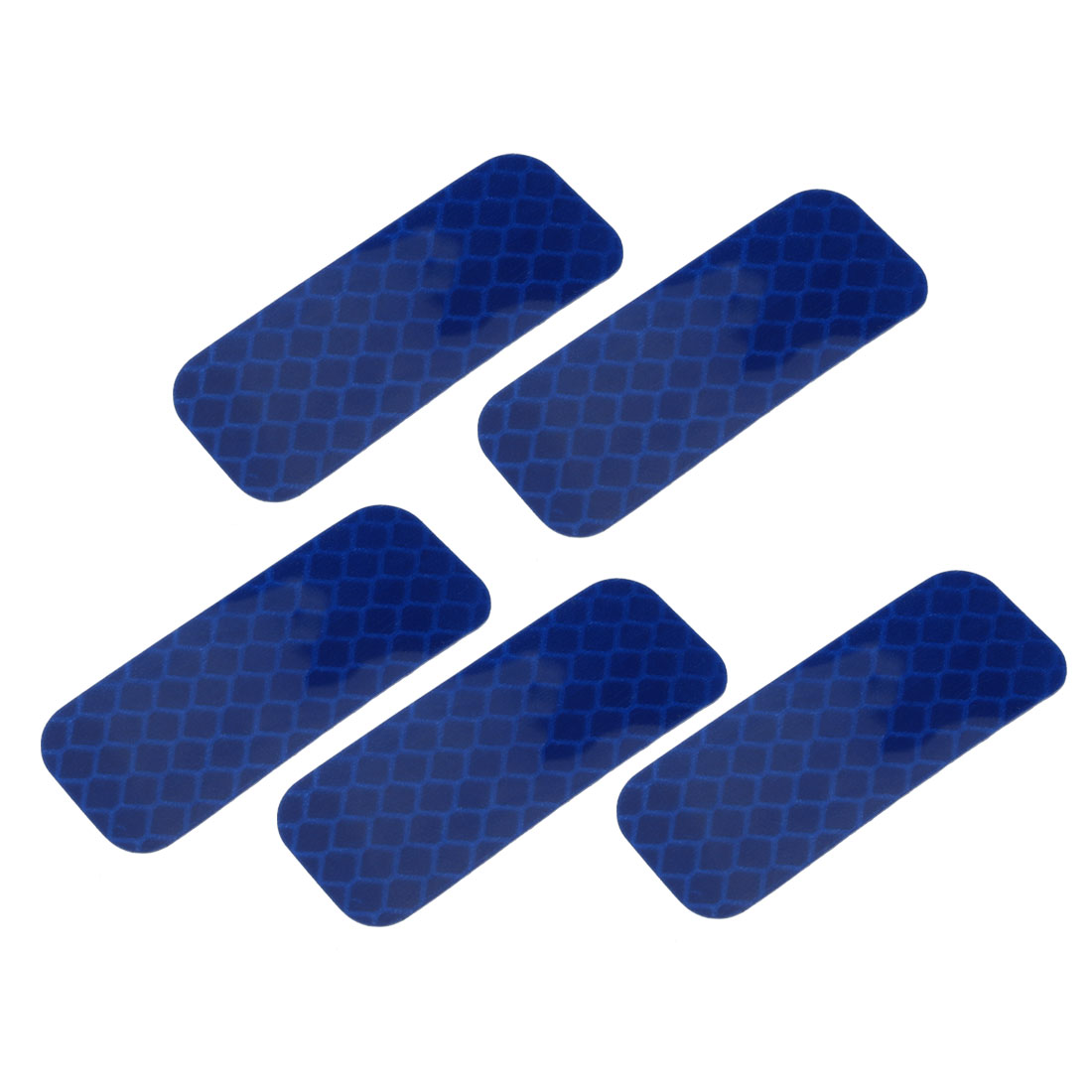 5pcs Honeycomb Reflective Warning Tape Film Sticker Blue 20mm Width 50mm Length