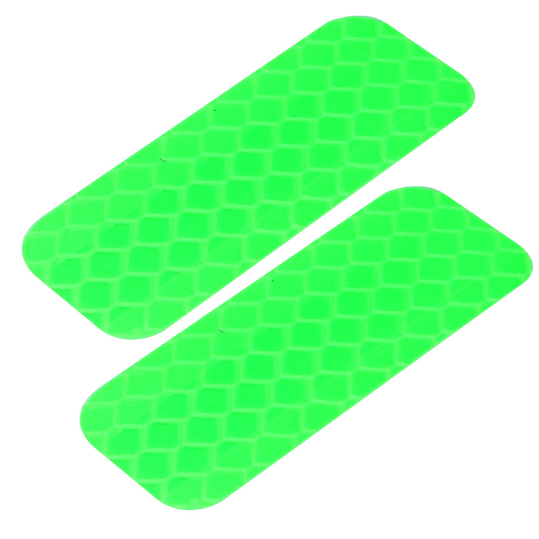2pcs Honeycomb Reflective Warning Tape Film Sticker Green 20mm Width 50mm Length