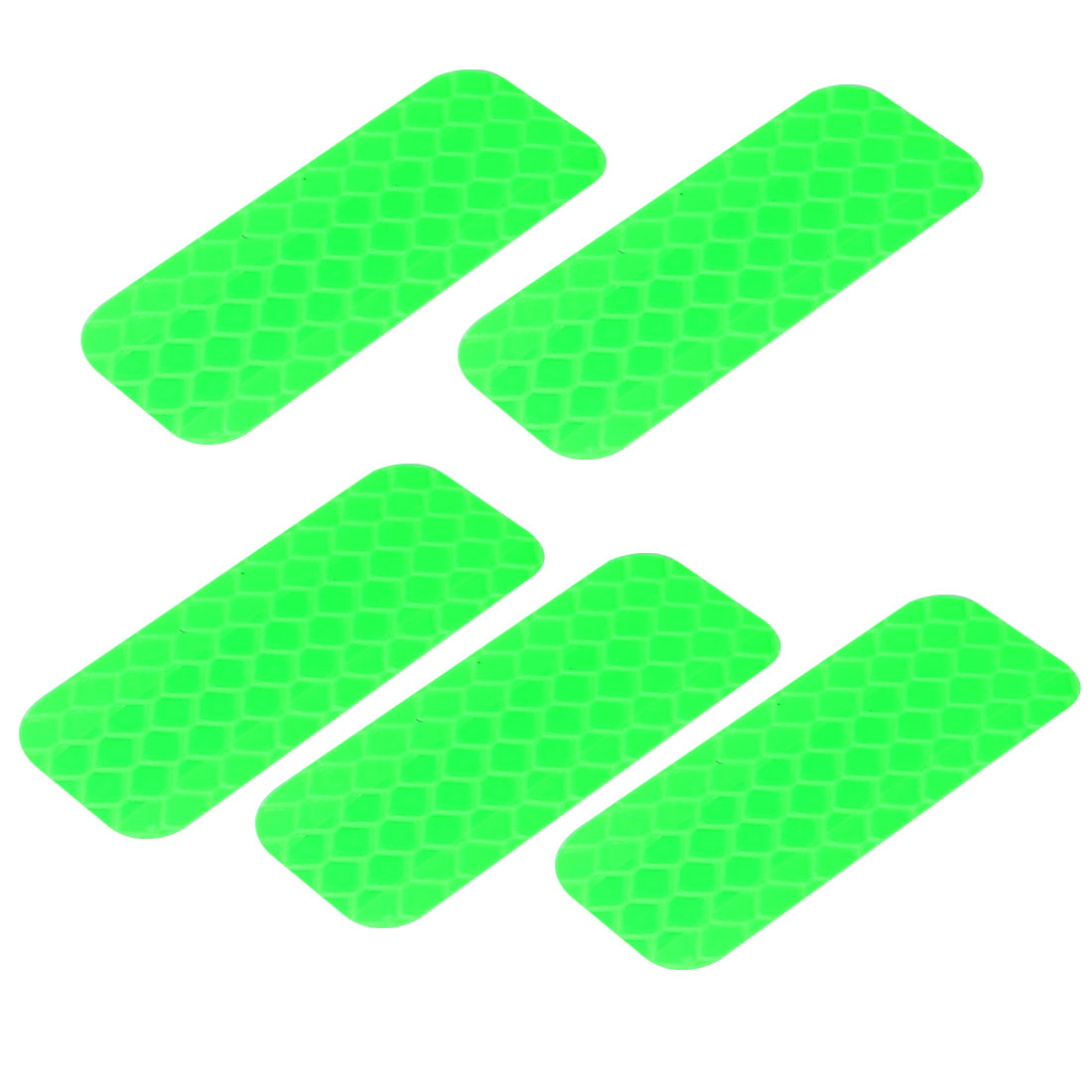5pcs Honeycomb Reflective Warning Tape Film Sticker Green 20mm Width 50mm Length