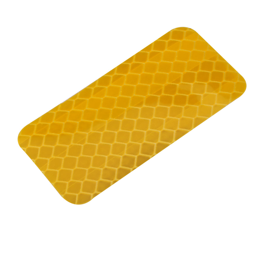Honeycomb Reflective Warning Tape Film Sticker Yellow 30mm Width 60mm Length