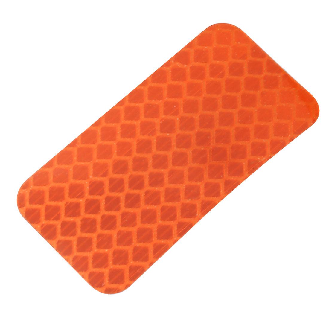 Honeycomb Reflective Warning Tape Film Sticker Orange 30mm x 60mm