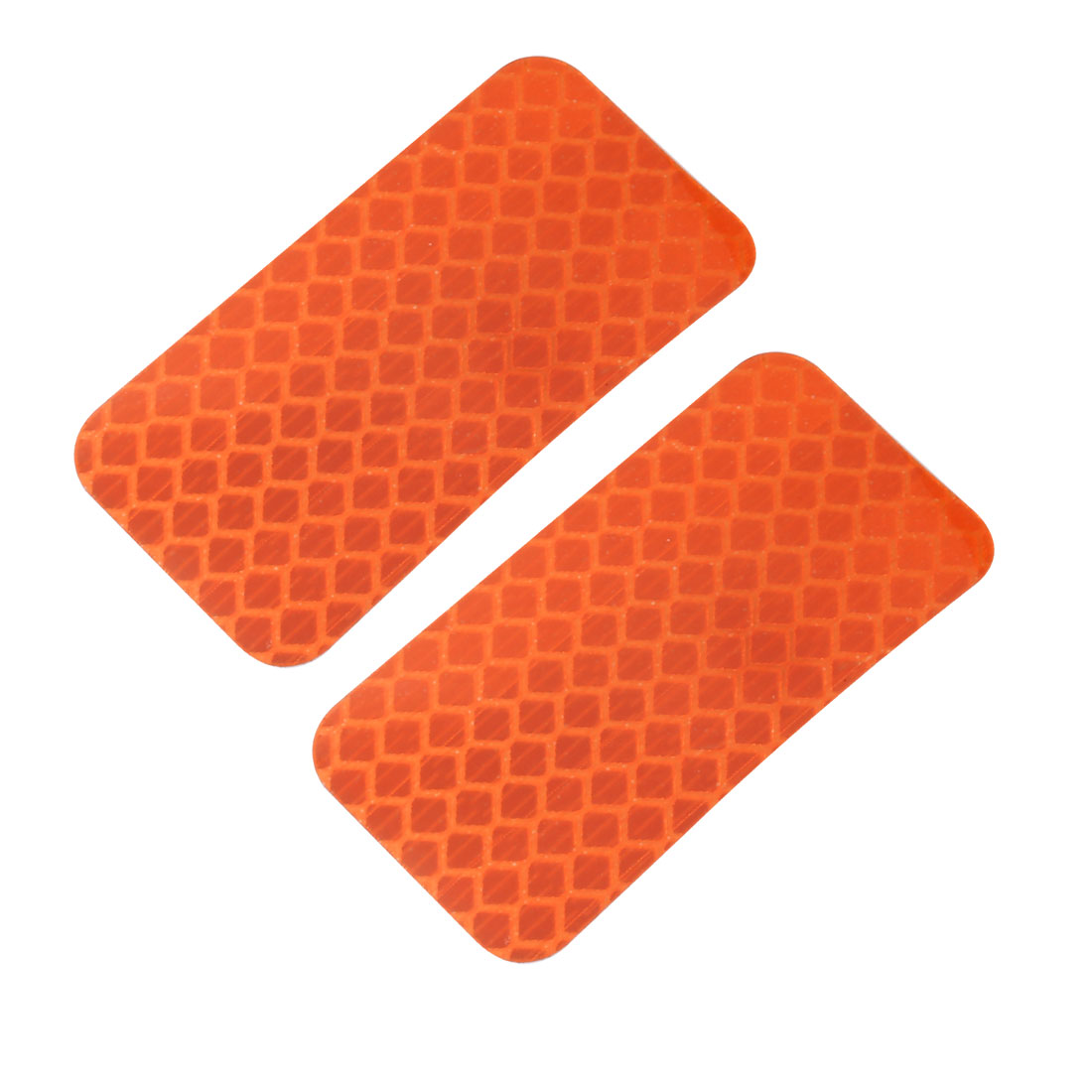 2pcs Honeycomb Reflective Warning Tape Film Sticker Orange 30mm x 60mm