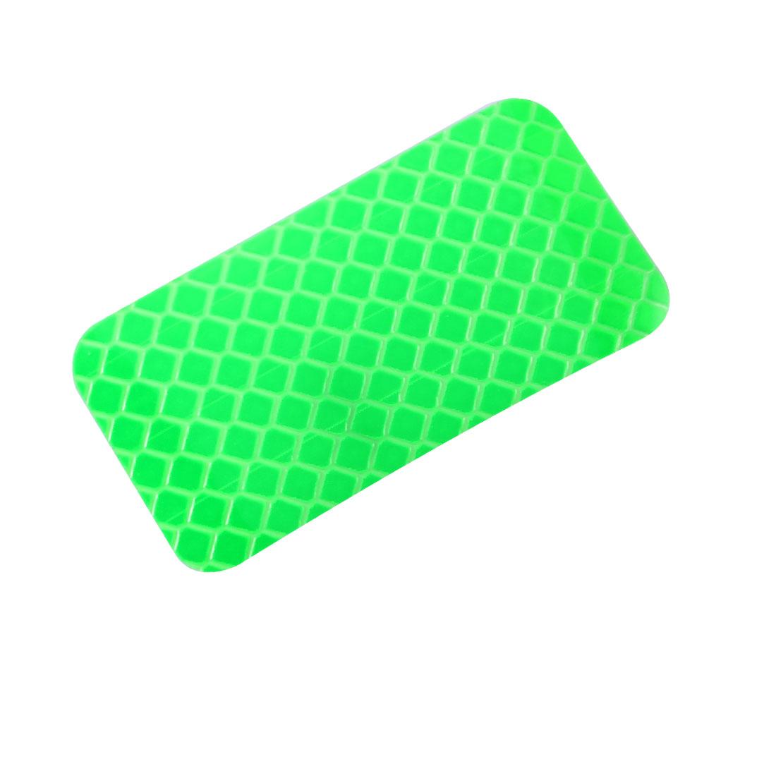 Honeycomb Reflective Warning Tape Film Sticker Green 30mm x 60mm