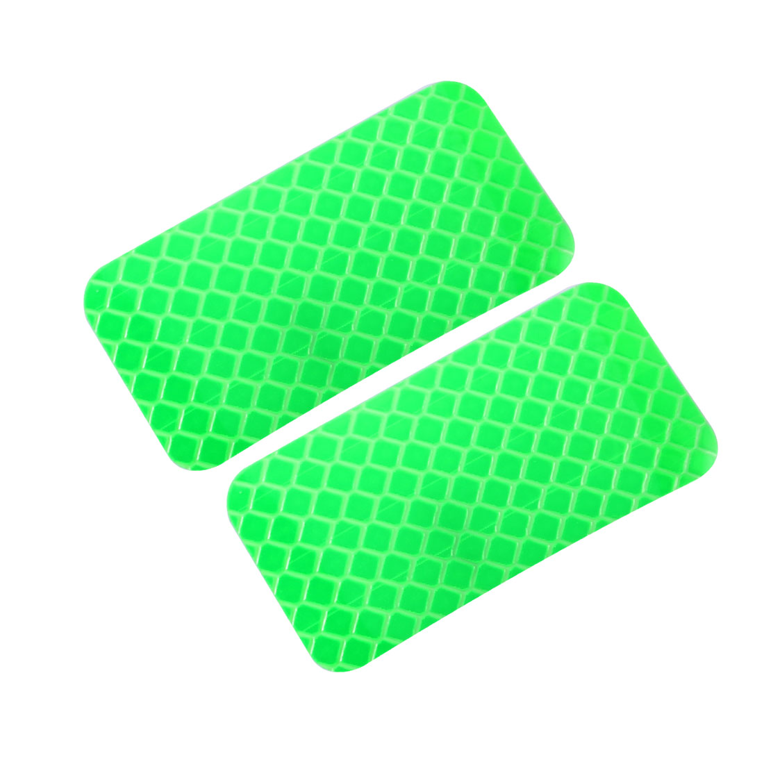 2pcs Honeycomb Reflective Warning Tape Film Sticker Green 30mm x 60mm