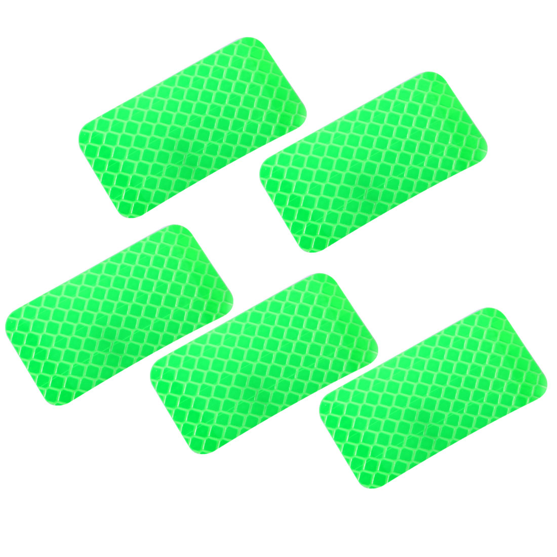 5pcs Honeycomb Reflective Warning Tape Film Sticker Green 30mm x 60mm