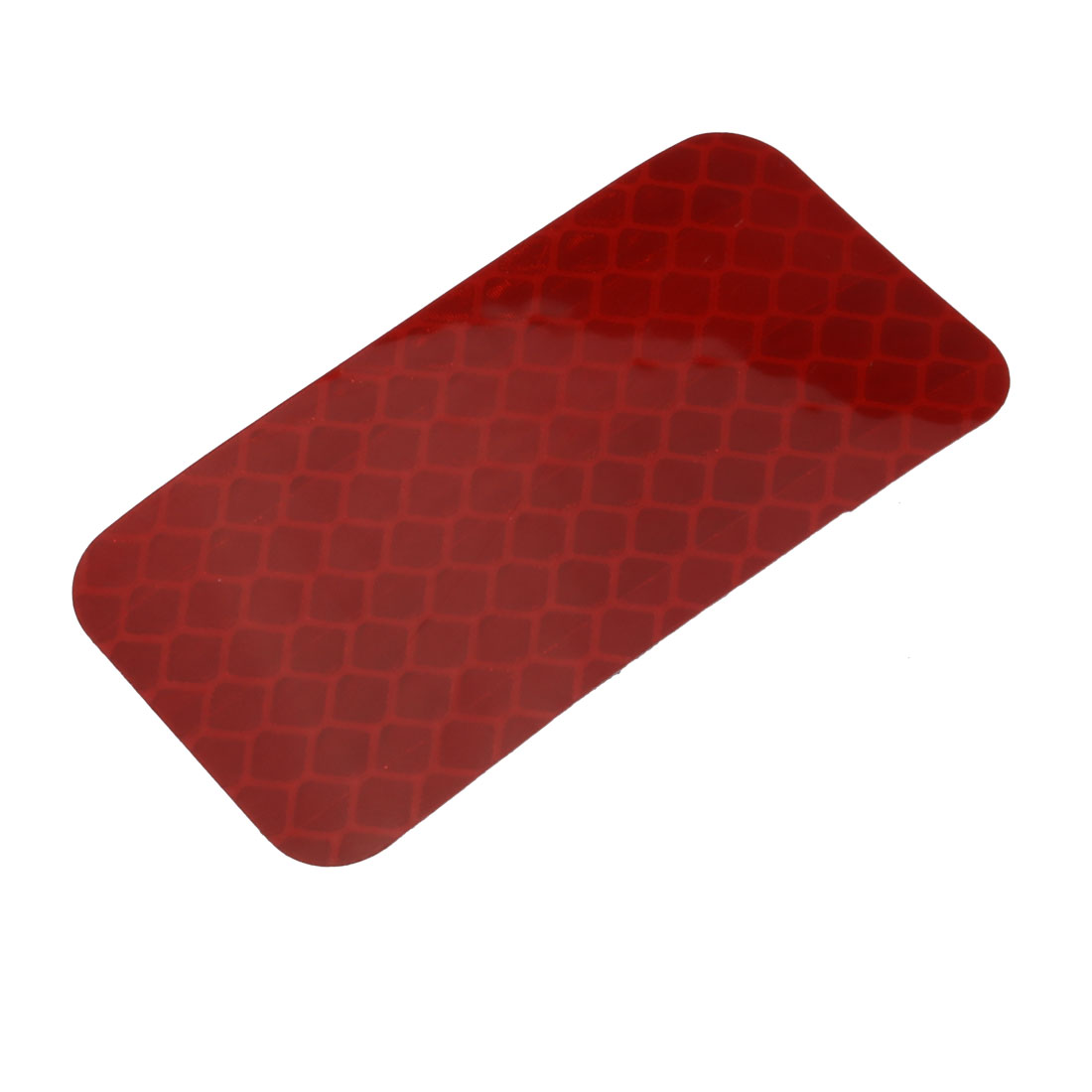Honeycomb Reflective Warning Tape Film Sticker Red 30mm x 60mm