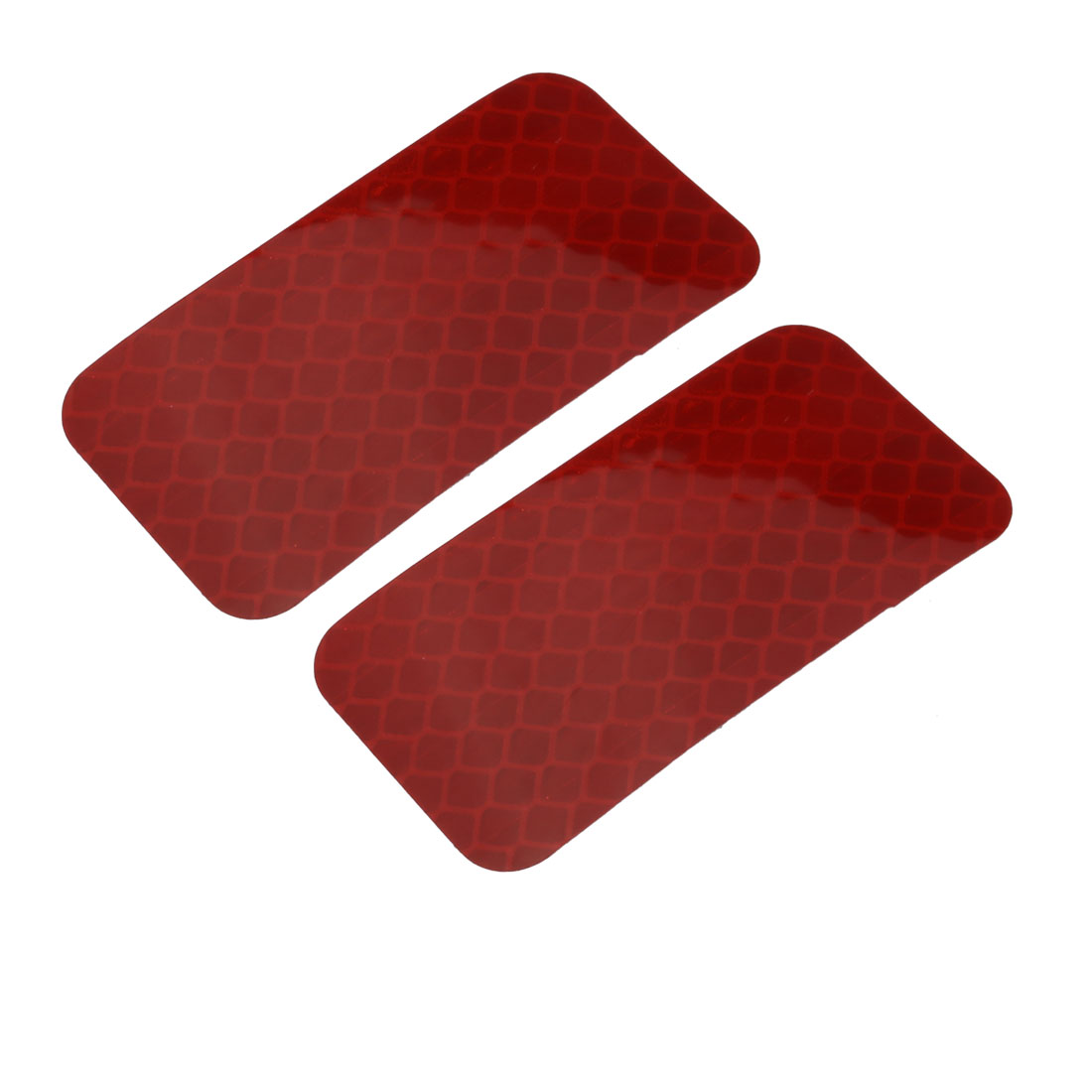 2pcs Honeycomb Reflective Warning Tape Film Sticker Red 30mm x 60mm
