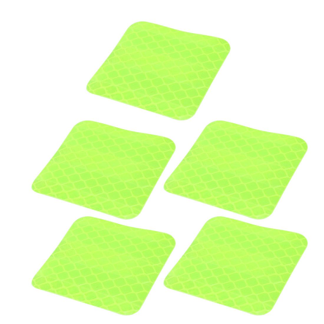 5pcs Honeycomb Reflective Warning Tape Film Sticker Light Yellow 40mm x 40mm