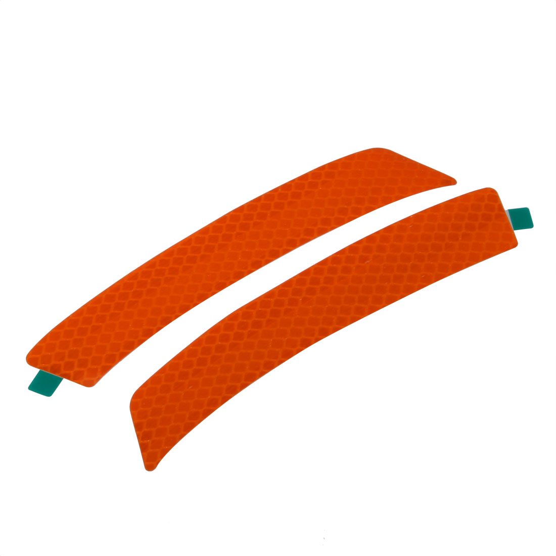 Pair Reflective Warning Tape Strip Sticker Orange 23mm x 140mm for Car
