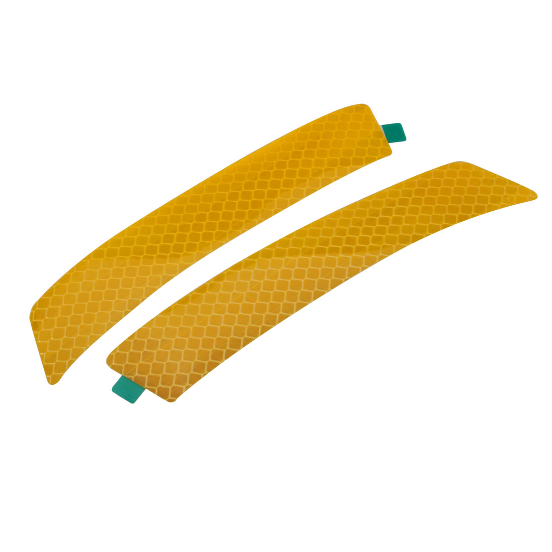 Pair Reflective Warning Tape Strip Sticker Yellow 23mm x 140mm for Car