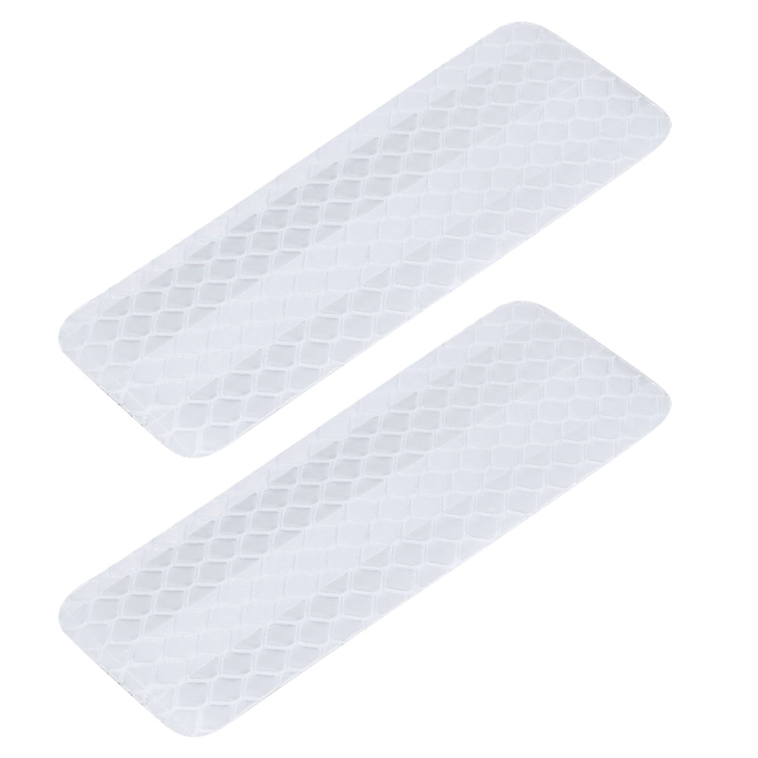 2pcs Reflective Warning Tape Strip Sticker White 30mm x 80mm for Car