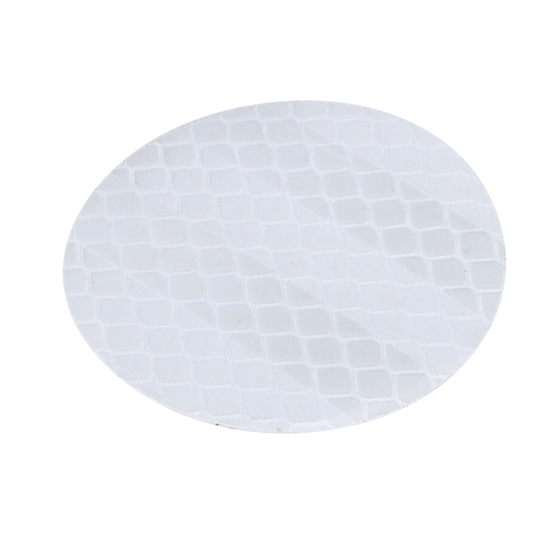 2pcs Round Reflective Warning Tape Strip Sticker White 45mm Diameter