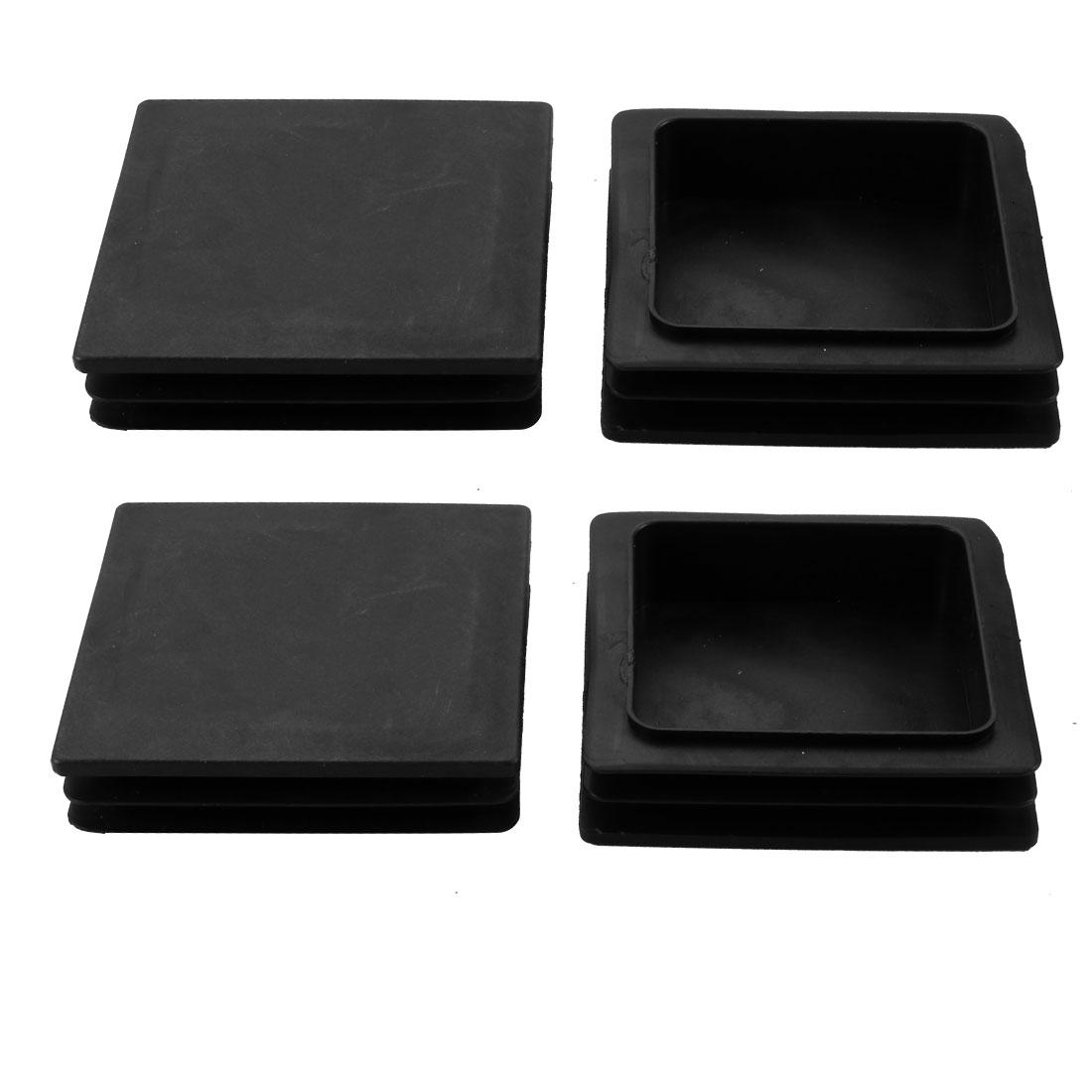 4pcs 100x100mm Black Plastic Square Cabinet Leg Insert Cover Protector