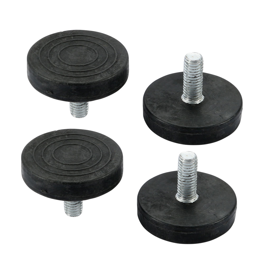 4pcs Screw On Type Furniture Glide M8 Thread Leveling Foot Adjuster M8X45X20mm