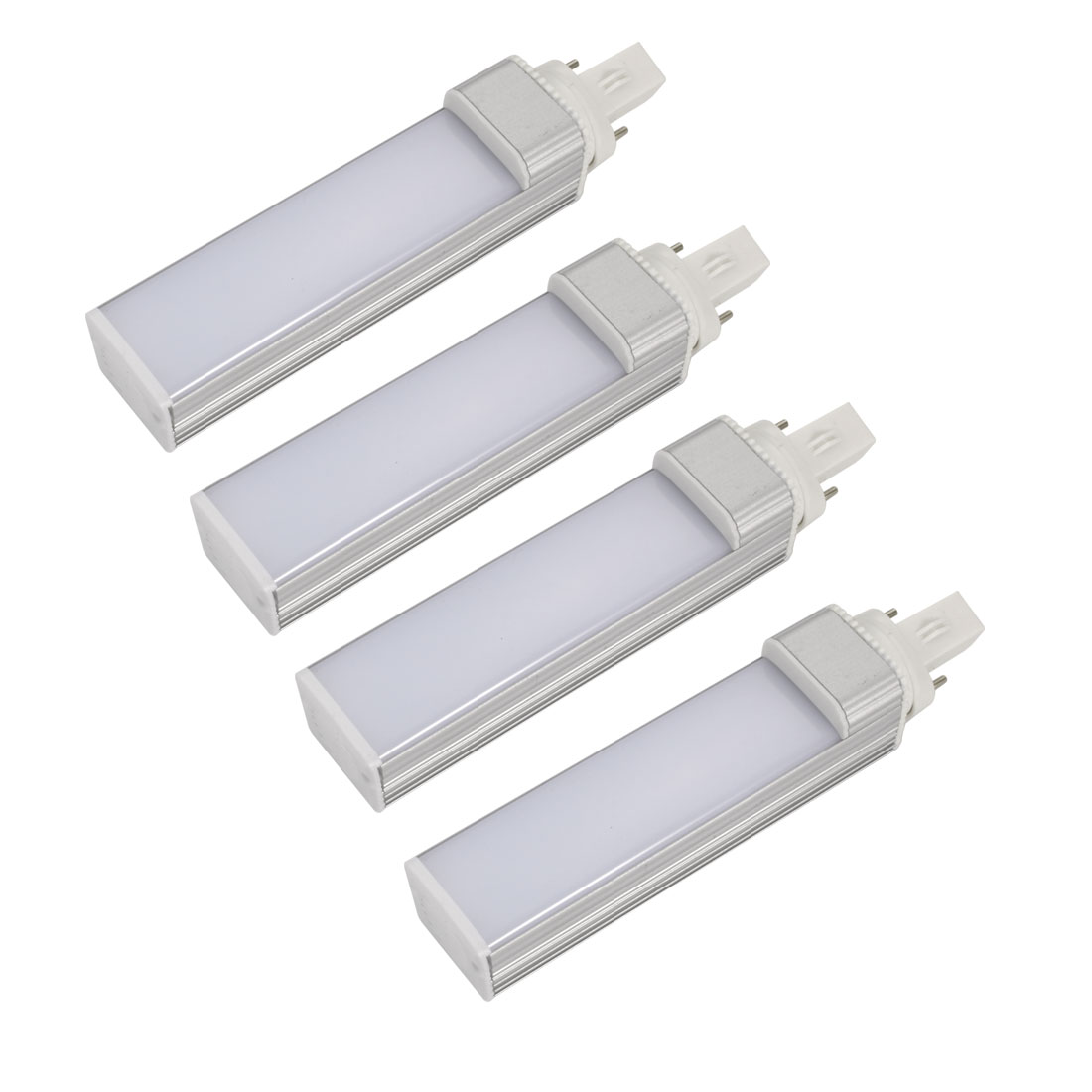 4pack DIY Parts for PLC Lamp G23 11W SMD5050 Lamp Housing Kit w White Cover