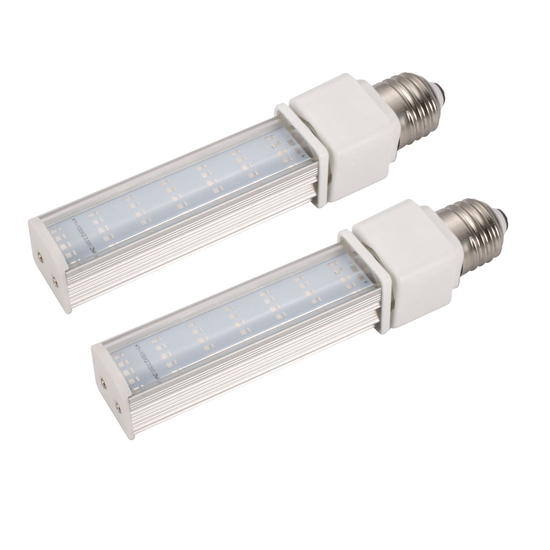 2pack DIY parts for PLC Lamp E27 7W PL-C Lamp Housing Kit w Clear Cover