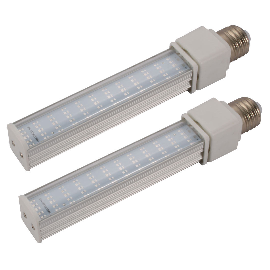 2pack DIY parts for PLC Lamp E27 12W PL-C Lamp Housing Kit w Clear Striped Cover