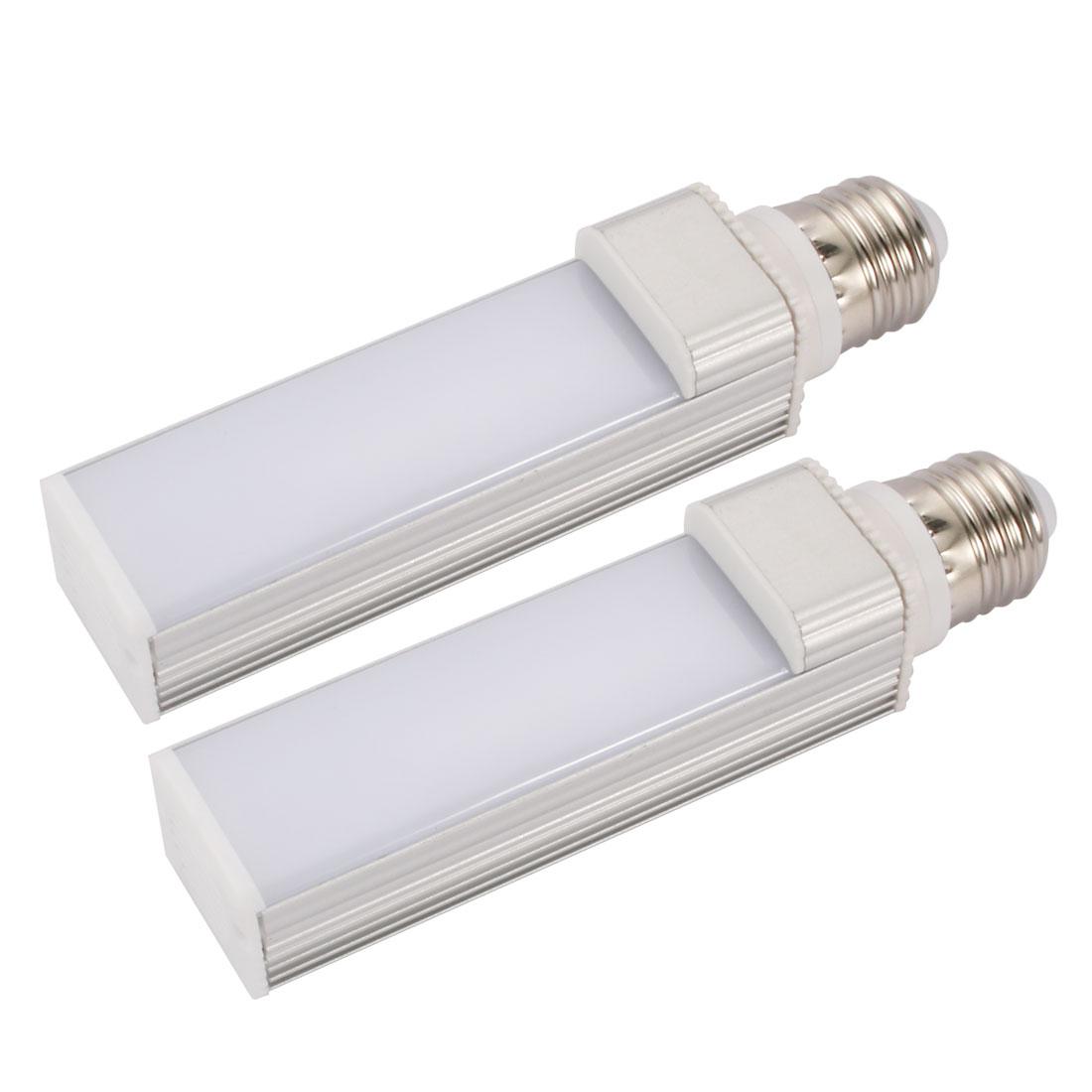 2pack DIY parts for PLC Lamp E27 8W PL-C Lamp Housing Kit w White Cover