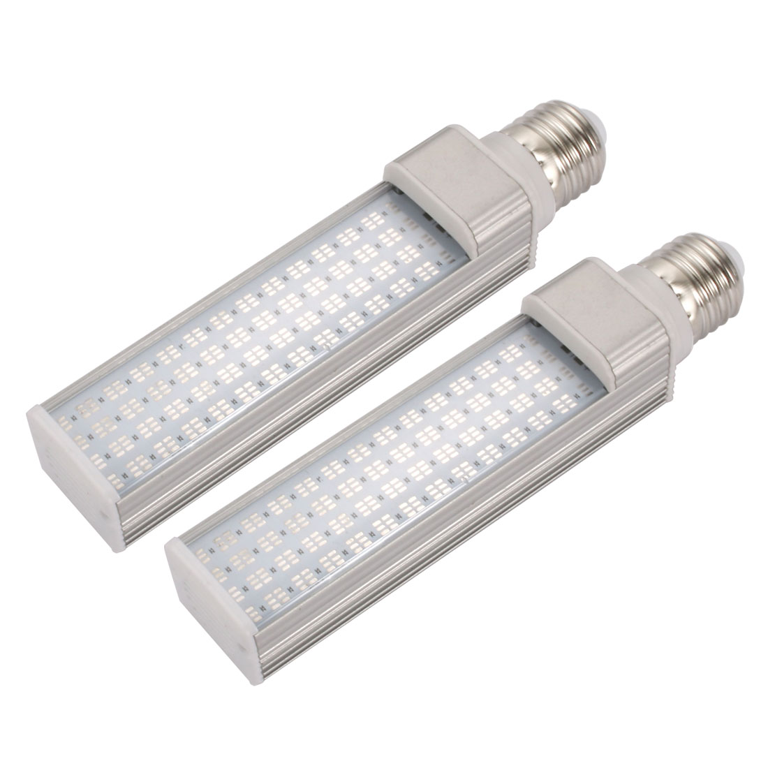 2pack DIY parts for PLC Lamp SMD5050 E27 9W PL-C Lamp Housing Kit w Clear Cover