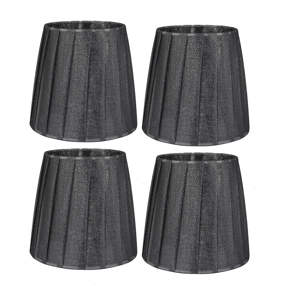 4pcs 110mmx150mmx140mm E14 Dark Grey Lamp Shade Lamp Cover for Home Office