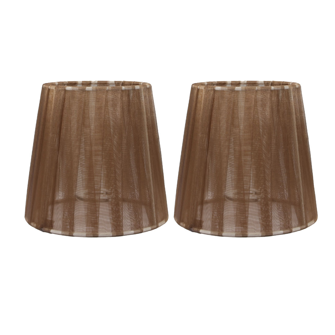 2pcs E14 Brown Wall Lamp Candle Pendant Light Bulb Lamp Cover Lamp Shade