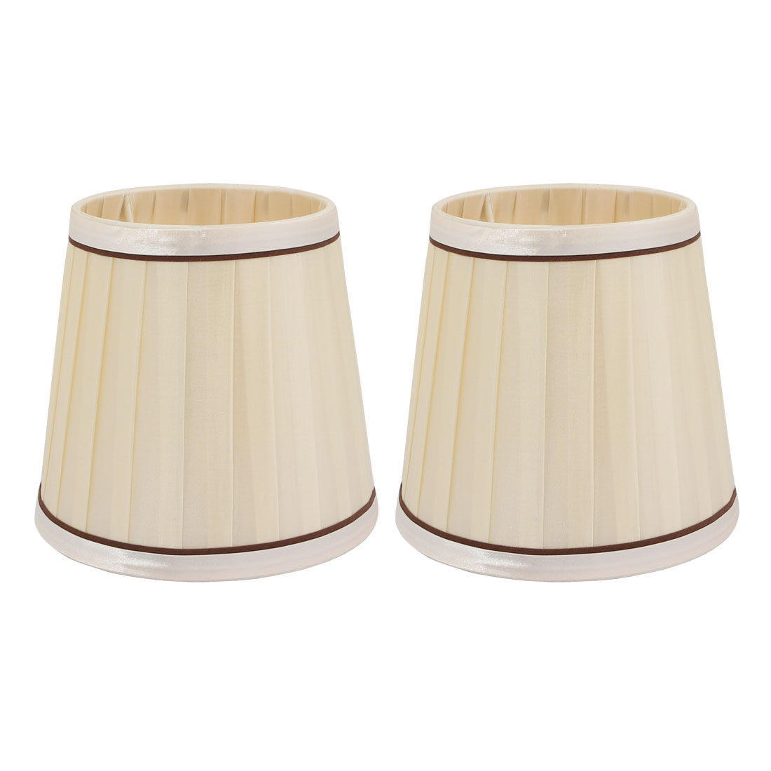 2pcs E14 Lightshade Wall Lamp Candle Chandelier Lamp Shade Beige Fabric-Covered