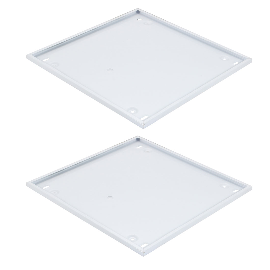 2pcs 300mm x 300mm Pendant Lamp Ceiling Plates Square Base Chassis White
